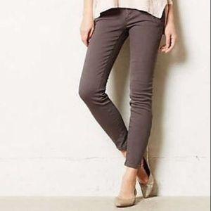Anthropologie Pilcro Serif moto zip legging jean